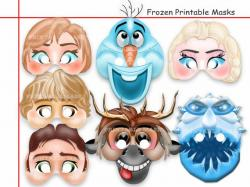 Masks clipart frozen