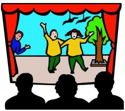 Actor clipart on stage
