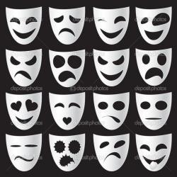 Masks clipart drama class