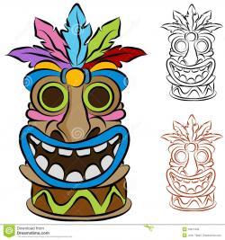 Mask clipart luau
