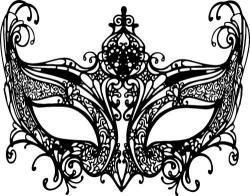 Masquerade clipart black mask