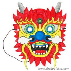 Mask clipart new year