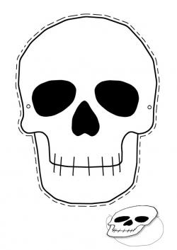 Traditional Costume clipart halloween skeleton head