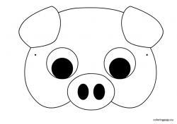 Masks clipart pig