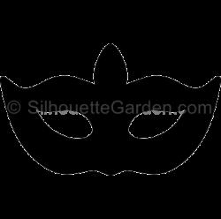 Masquerade clipart silhouette