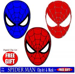 Mask clipart spiderman mask