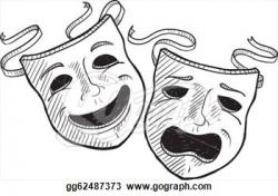 Theatre clipart symbol mask
