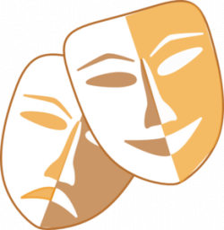 Theatre clipart mask template