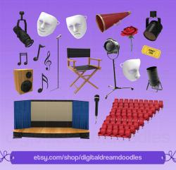 Theatre clipart studio light