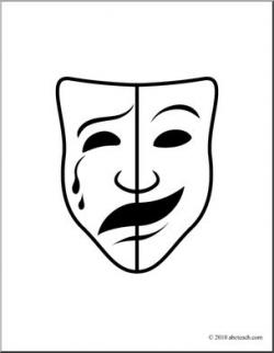 Mask clipart theatre mask comedy tragedy