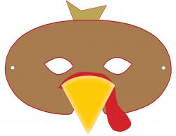 Masks clipart turkey
