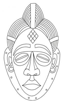 Mask clipart west african