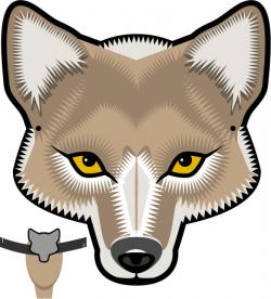 Drawn masks coyote