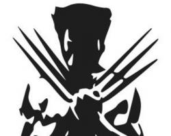 Wolverine clipart black and white