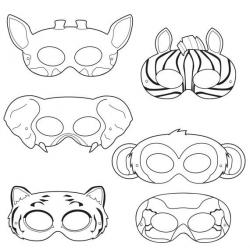 Drawn masks jungle