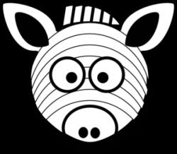Mask clipart zebra