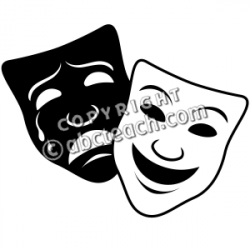 Theatre clipart theatre mask comedy tragedy