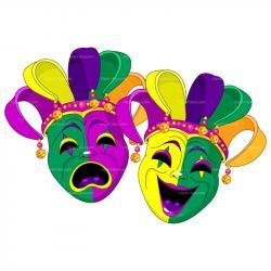 Jester clipart carnival mask