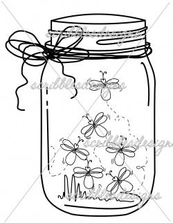 Firefly clipart jar drawing