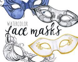 Masquerade clipart face mask