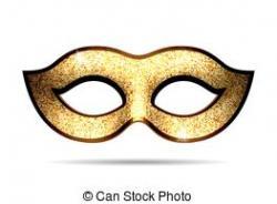 Masquerade clipart gold