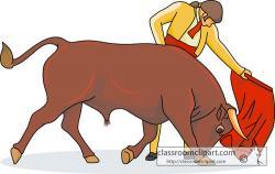 Matador clipart spanish bull