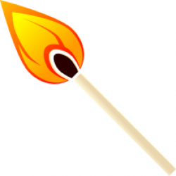 Match clipart flame