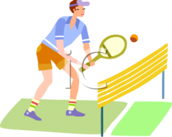 Match clipart lawn tennis