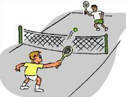Match clipart tennis court
