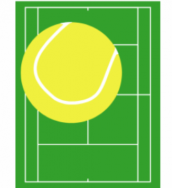 Matches clipart tennis court