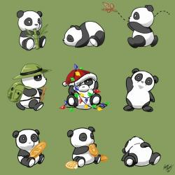 Chinese Food clipart cute panda