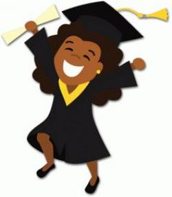 Graduation clipart female graduate