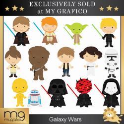 Star Wars clipart cartoon