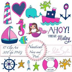 Mermaid clipart nautical