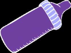 Mauve clipart baby bottle