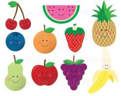 Raspberry clipart cute fruit