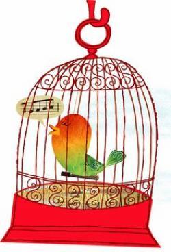 Mauve clipart birdcage
