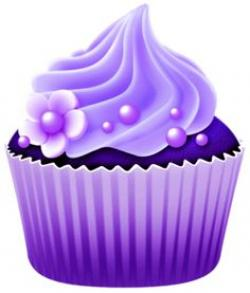 Mauve clipart birthday cupcake
