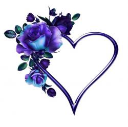 Purple Rose clipart purple heart