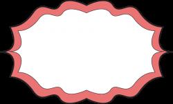 Peach clipart frame