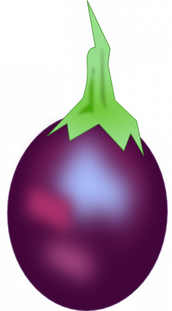 Eggplant clipart purple color