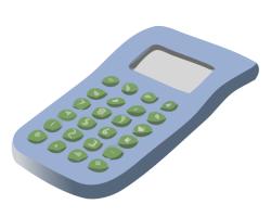 Mauve clipart calculator