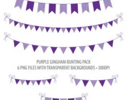 Lilac clipart bunting