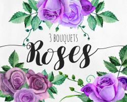 Mauve clipart flower bouquet