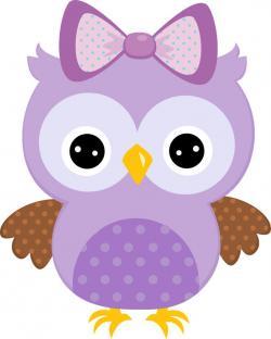 Mauve clipart owl