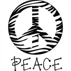 Peace Sign clipart zebra