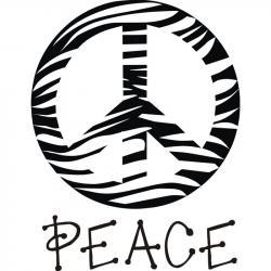 Peace Sign clipart zebra