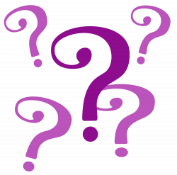 Mauve clipart question mark