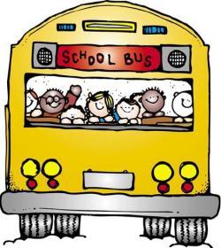 Mauve clipart school bus