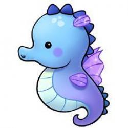Drawn seahorse cute